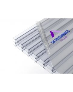 16mm Clear Polycarbonate Multiwall Sample 100mm x 100mm