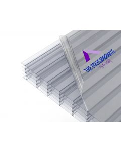 25mm Clear Polycarbonate Multiwall Sample 150mm x 150mm