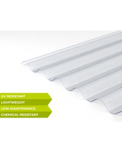 Clear 3 Inch Palruf™ PVC Corrugated Sheets